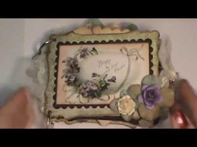 Shabby chic Vintage Easter mini chipboard scrapbook album