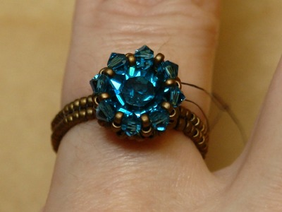 Sidonia's handmade jewelry - Swarovski Solitaire beaded ring