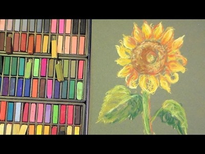 Sunflower in pastel tutorial