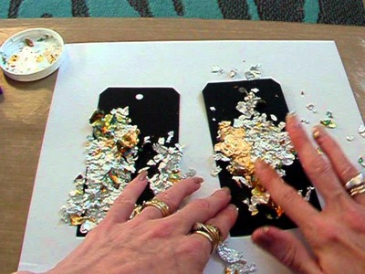 Tutorial on using the gilding flakes.
