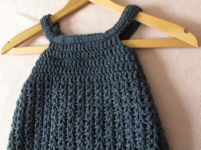 VERY EASY crochet baby. girl's pinafore dress tutorial - all sizes