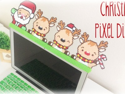 Christmas Holiday Lap top display with Santa and Reindeer Tutorial. DIY