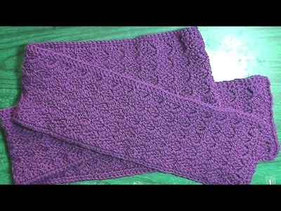Crochet a C2C scarf with a difference! Left handed