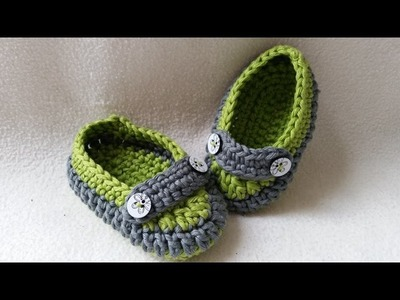 Crochet Baby Loafer - Slipper - Moccasin - Part 1 - Sole by BerlinCrochet