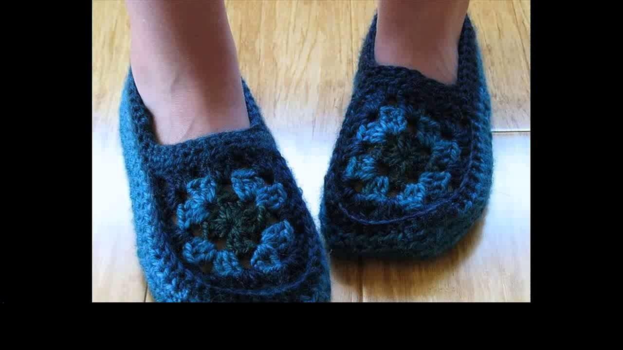 Crochet slippers for children