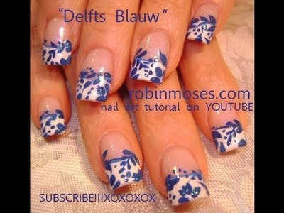 Delfts Blauw Nail Art
