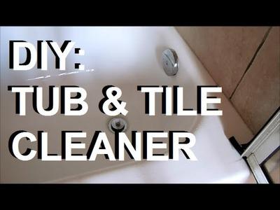 DIY: All Natural Organic Tub & Tile Cleaner