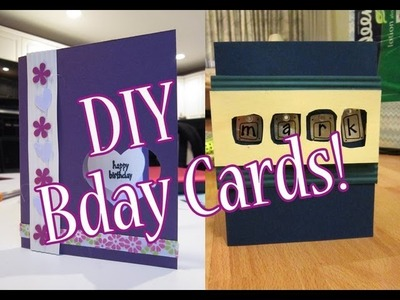 DIY Birthday Cards #1 | (& 2 minute update on me and my channel!)