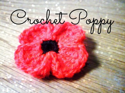 DIY Crochet Poppy ¦ The Corner of Craft