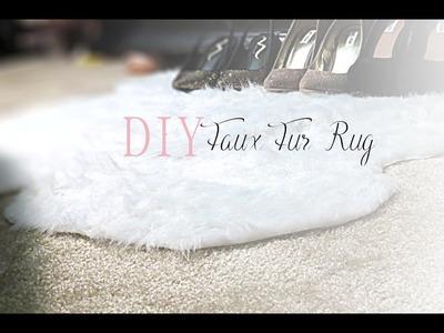 DIY: Faux Fur Rug