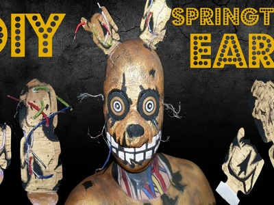 DIY: How to make springtrap ears tutorial - Five nights at freddys springtrap Makeup Tutorial