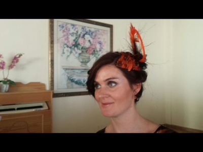 DIY Lace Covered Teardrop Fascinator