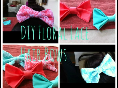 DIY Lace Floral Hair Bows!