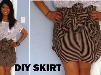 DIY: Long Sleeve Shirts into Skirts (No Sewing)   FashionbyAlly