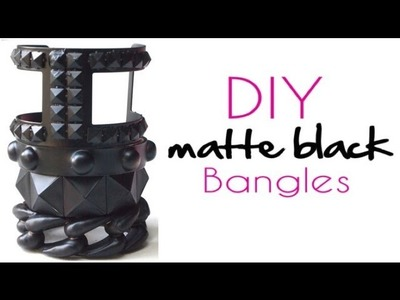 {DIY} Matte Black Arm Candy