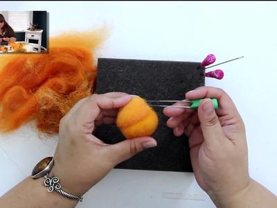 DIY Needle Felting Perfect Fall Pumpkins