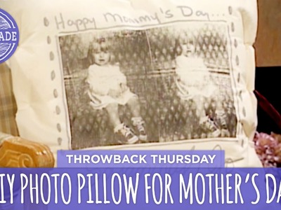 DIY Photo Pillow for Mother's Day - Throwback Thursday - HGTV Handmade