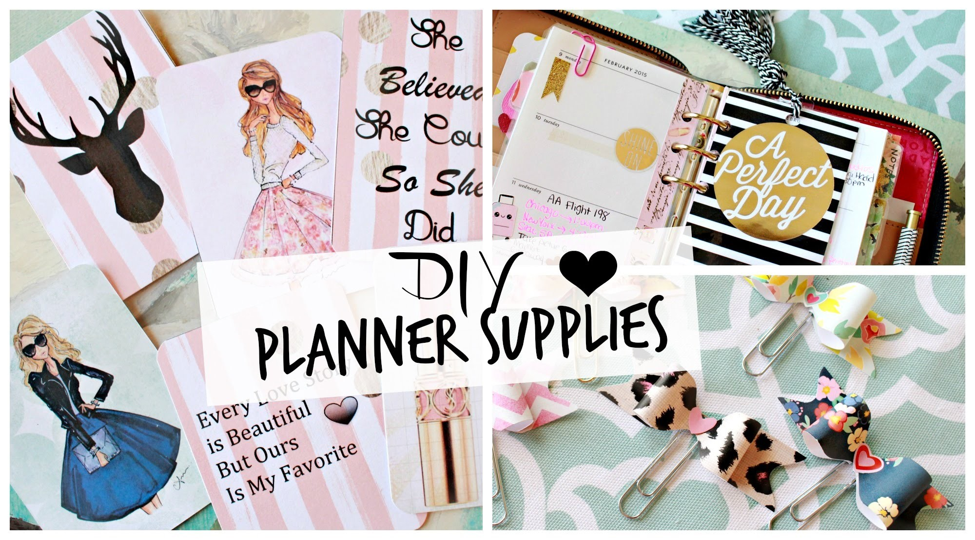 DIY Planner Supplies: Journaling Cards, Bow Clips, and Tassel! #PlanningWithBelinda