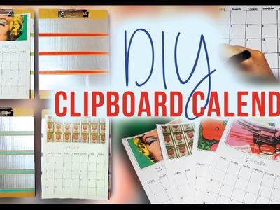 DIY Room Decor Calendars ✽ Great for Back to School