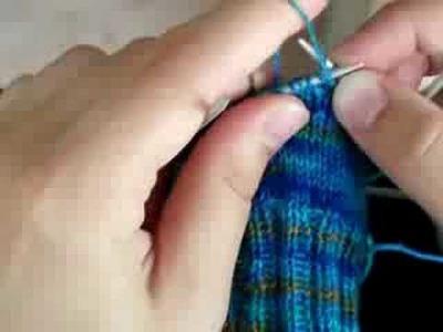 Double knitting 2 socks in 1