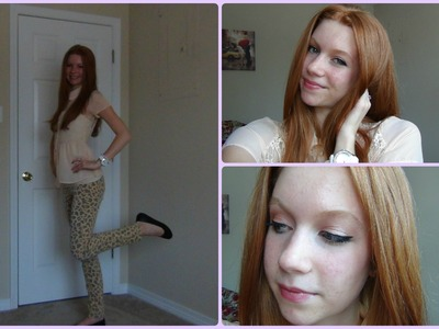 Get Ready with Me! Leopard Jeans and Peter Pan Collar!