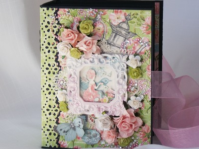 Graphic 45 Botanical Tea mini scrapbook photo album