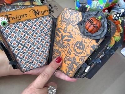 Halloween Scrapbook Album Coffin Shaped 9.8.12