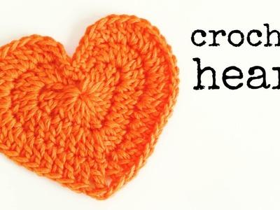 How to Crochet a Heart (Medium Size)