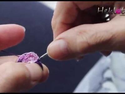 How to Crochet flower - Kako se hekla cvetić