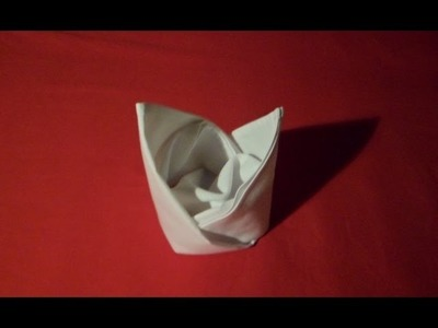 How To Fold Napkins - Bishop's Hat (Napkin Folding)