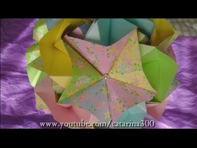 How to fold: Origami Magic Rose Cube by Valerie Vann | Kusudama Platonic Roses by Leong Chits