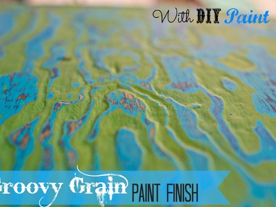 How to paint Wood Grain in layers with chalk type paint