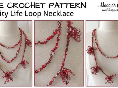 Loopy Necklace Free Crochet Pattern - Right Handed