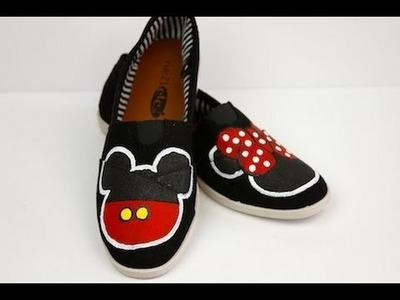 Mickey & Minnie DIY Disney Shoes | ShowMeCute