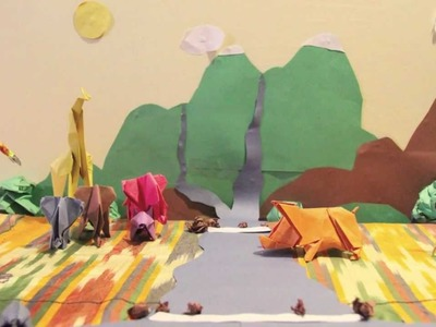 Opaque Nature- awesome Origami STOP MOTION music video