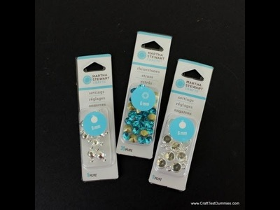 Overview.Demo of the Martha Stewart Crafts Jewelry Line: Rhinestone Setting