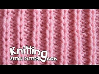 Slip Stitch Rib P2 K1 - Easy
