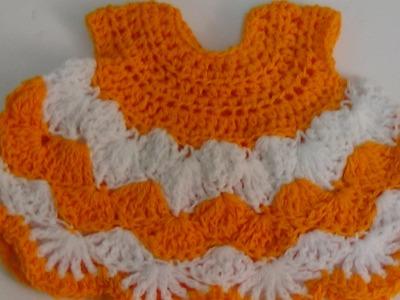 Very easy crochet baby dress-2