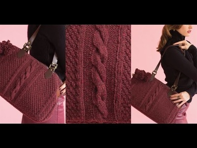 #15 Textured Tote, Vogue Knitting Holiday 2014