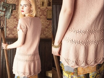 #20 Lacy Reglan Tunic, Vogue Knitting Spring.Summer 2013