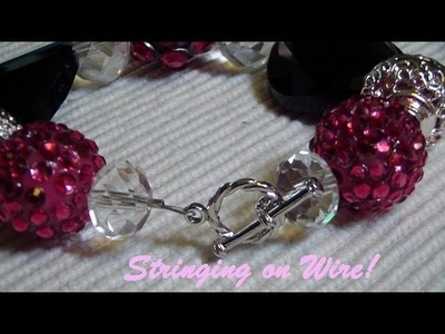 Beading Basics: Stringing with Wire and Adding a Clasp! (Bracelet)