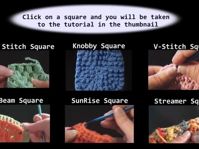 Crochet Granny Squares - Interactive Video - Demo Reel Crochet Geek
