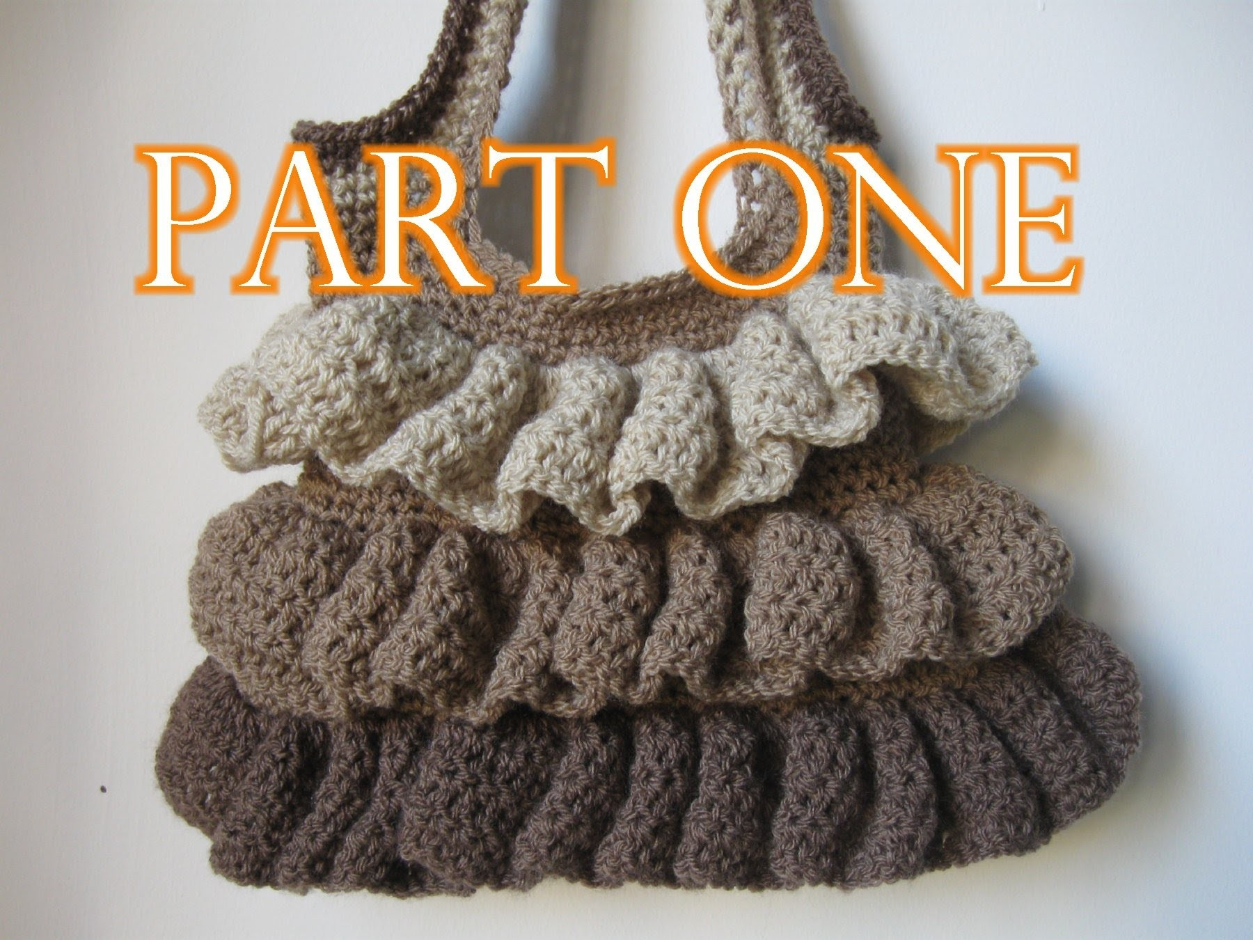 Crochet Ruffle Bag Tutorial pt 1