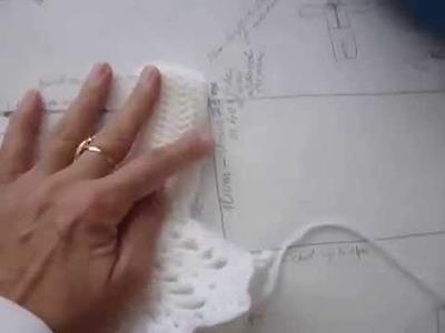 Crochet Tutorial - White Summer Dress 0 - 6 years old girl - part1