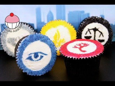 Divergent Cupcakes PLUS How to Make a DIY Cupcake Stencil! By Cupcake Addiction