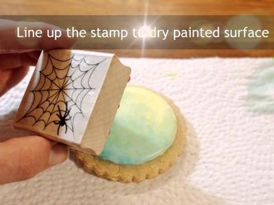 DIY Cookie Tutorial - Stamped Halloween Cookies