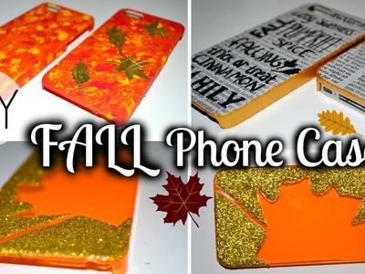 DIY Fall Phone Cases