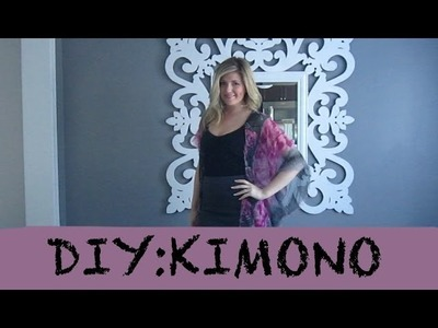 DIY | HOW TO MAKE A KIMONO | FASHION TUTORIAL