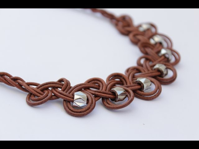 DIY Knotted Leather Necklace