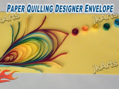 DIY Paper Quilling Feather Envelope - JK Arts 259
